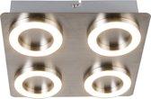 QAZQA Hoop - Plafondlamp - 4 lichts - 230 mm - staal