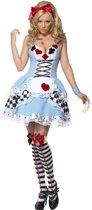 Alice in Wonderland kostuum | Jurkje met speelkaarten | Dames maat M (40-42)