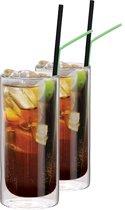 Cocktailglazen voor Cuba Libre Dubbelwandig, set van 2 - Maxxo