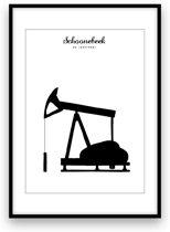 Schoonebeek stadposter - Zwart-wit