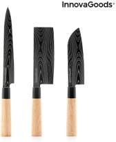 InnovaGoods Set of Japanese Knives With Carrying Cover Damas Q (4-delig)