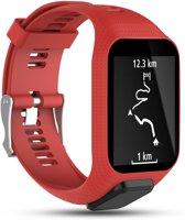 Siliconen Horloge Band Voor Tomtom Adventurer / Golfer 2 / Spark / Runner 2/3 - Armband / Polsband / Strap Bandje / Sportband - Rood