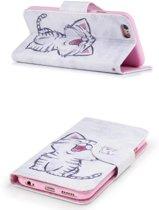 Apple Iphone 6 / 6S Bookcase hoesje schattig katje