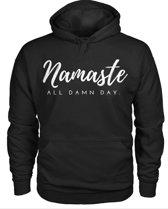 Hippe sweater   Hoodie   Namasté   maat XXL
