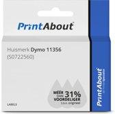 Huismerk Dymo 11356 (S0722560) Etiket Zwart op wit (89 mm x 41  mm)