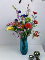 Zijden kunstbloemen boeket – Plukboeket – Veldboeket - Bloemen – 70 cm