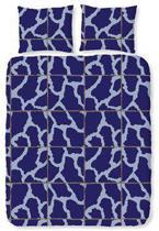 Romanette Army dekbedovertrek - Blauw - 1-persoons (140x200/220 cm + 1 sloop)