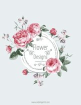 Flower Designs Coloring Book for Grown-Ups 1, 2 & 3