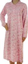 Lunatex dames nachthemd lange mouw  - XL  - Roze
