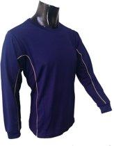 KWD Shirt Diablo lange mouw - Navy - Maat 116