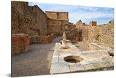 De binnenstad van Pompeï in Italië Aluminium 180x120 cm - Foto print op Aluminium (metaal wanddecoratie) XXL / Groot formaat!