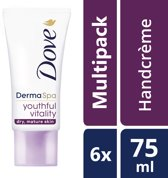 Dove Youthful Vitality Handcrème - 6 x 75 ml - Voordeelverpakking