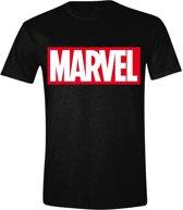 Marvel - Logo Mannen T-Shirt - Zwart - XXL
