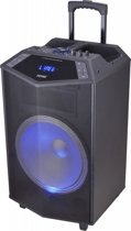 Denver TSP-504 - Trolley speaker met Bluetooth en LED licht - Zwart