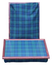 Margot Steel Laptray/Schoottafel Black Watch tartan - 41 x 31 x 10 cm