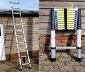 Telescopische ladder 11 treeds - Uitschuifbaar - Werkhoogte 3.20m