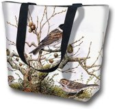 "Tas -Handtas / Shopper / Draagtas / Tendy Tote Bag met Vogels ""Branch & Bird"""