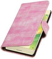 Sony Xperia X Hoesje Hagedis Bookstyle Roze