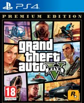 Cover van de game Grand Theft Auto V (GTA 5) - Premium Edition PS4