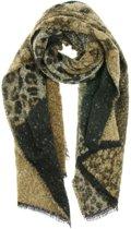Grote warme sjaal zwart-grijs- taupe lekker zacht