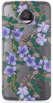 Motorola Moto Z2 Play Hoesje Purple Flowers