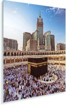 De heilige Kaäba van Mekka in Saoedi-Arabië Plexiglas 120x180 cm - Foto print op Glas (Plexiglas wanddecoratie) XXL / Groot formaat!