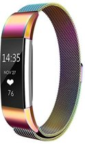 MMOBIEL Milanese Horloge Band Roestvrij Staal voor Fitbit Alta Fitbit HR -  Colorful