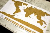 ScratchMap wereldkaart 88x52 (Scratch Map/Kraskaart)