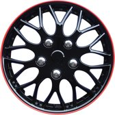 Autostyle Wieldoppen Missouri 14 Inch Abs Zwart/rood Set Van 4