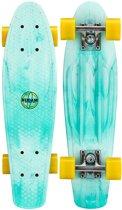 """Nijdam Kunststof Skateboard 22.5"""" - Splash Dye - Mintgroen/Geel"""