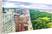 Trump Tower en Central Park Hout 120x80 cm - Foto print op Hout (Wanddecoratie)