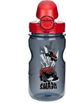 Nalgene On The Fly Kids Bottle - Drinkfles - 0.35 liter - BPA free - Grijs/Rood