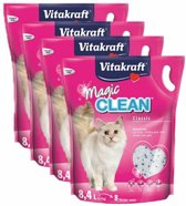 Vitakraft Magic Clean Kattenbakvulling - 4 x 8,4 l