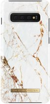 iDeal of Sweden Fashion Backcover hoesje voor Samsung Galaxy S10 Plus - Carrara Gold