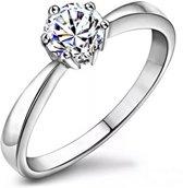 Fate Jewellery Ring FJ112 - 18mm - Zilverkleurig met zirkonia kristal