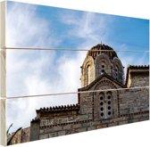FotoCadeau.nl - Griekse architectuur Hout 120x80 cm - Foto print op Hout (Wanddecoratie)