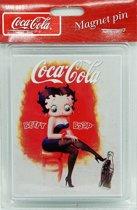 Koelkast Magneet Coca Cola - Betty Boop - wit