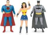 DC Comics - 3 figuurtjes: Batman, Superman en Wonder Woman - buigbaar - 7,5 cm hoog