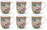 Pip Studio Floral Mok Klein Hummingbirds Khaki - 6 stuks