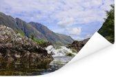 Kleine waterval in de rivier in Glen Coe Poster 180x120 cm - Foto print op Poster (wanddecoratie woonkamer / slaapkamer) XXL / Groot formaat!