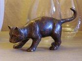 Tuinbeeld - bronzen beeld - Kat