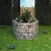 vidaXL Zeshoekige schanskorf plantenbak 160x139x100 cm