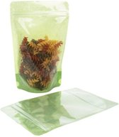 Stazakken Rijstpapier Transparant/Groen 15x9x23,2cm | 312 gram (100 stuks)
