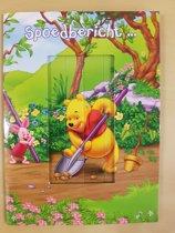 Wenskaart Winnie The Pooh beweegbaar