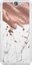 HTC One A9 hoesje - Marble splash