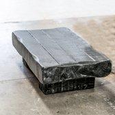 Salontafel Jamie Hout | Tafel Zwart Wit Gemêleerd Handgemaakt 100L x 60B x 30H