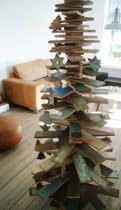 Kerstboom hout 3D Medium Scrapwood