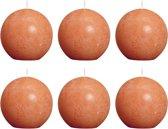 Bolsius Bolkaars Rustiek - Oranje (per 6 stuks) - Ø 8 cm