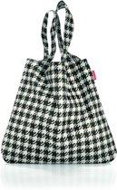 Reisenthel Mini Maxi Shopper - Opvouwbare boodschappentas - Polyester - 15L - Fifties Black Zwart