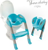 Thermobaby Kiddyloo toilettrainer - turquoise/grijs